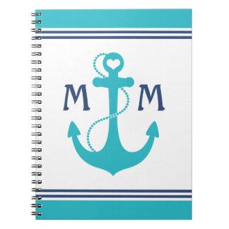 Monogramme nautique carnet