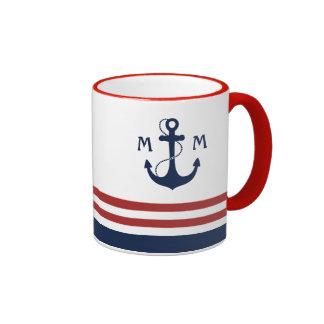 Monogramme nautique mug ringer