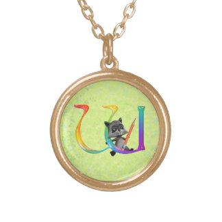 Monogramme nerd mignon W de Raccon Colliers