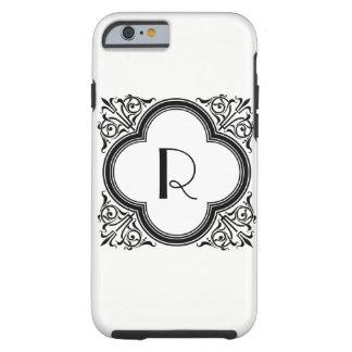 Monogramme Noir de frontière de style de couleur Coque Tough iPhone 6