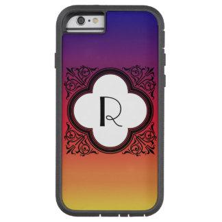 Monogramme Noir de frontière de style de gradient Coque Tough Xtreme iPhone 6