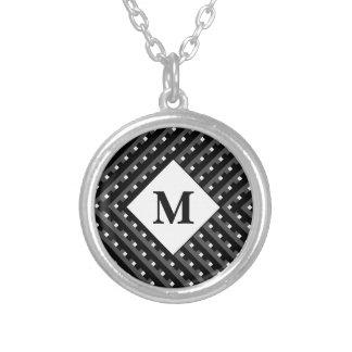 Monogramme noir et blanc de motif colliers