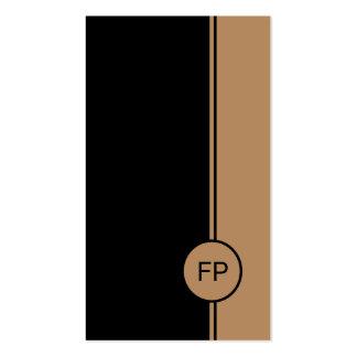 Monogramme noir et pâle élégant simple d'or cartes de visite