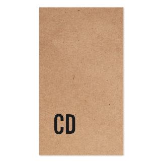 Monogramme noir frais moderne de papier cartes de visite