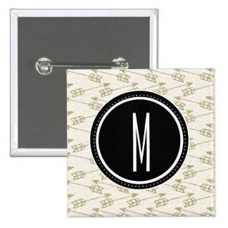 Monogramme noir tribal des flèches | pin's