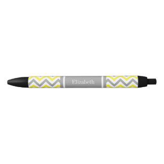 Monogramme nommé gris gris jaune d'atterrisseur stylo noir