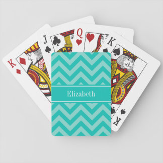 Monogramme nommé turquoise turquoise jeu de cartes