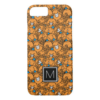 Monogramme orange du motif   de chatouillement de coque iPhone 7