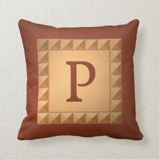 Monogramme P : Initiale et motif d'effet de Oreiller