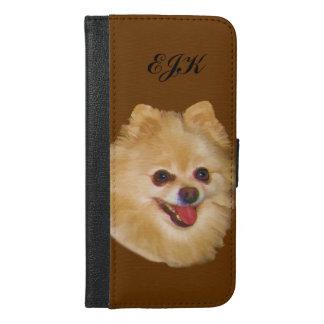 Monogramme personnalisable de chien de Pomeranian