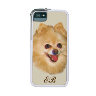 Monogramme personnalisable de chien de Pomeranian Coques Pour iPhone 5