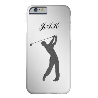 Monogramme personnalisable de partouzeur de golf coque iPhone 6 barely there