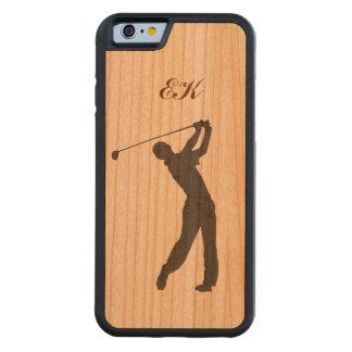Monogramme personnalisable de partouzeur de golf coque iPhone 6 bumper en cerisier