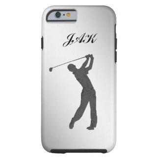Monogramme personnalisable de partouzeur de golf coque tough iPhone 6