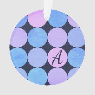 Monogramme pourpre et rose bleu de cercles