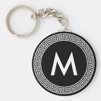 Monogramme principal grec de conception porte-clé rond