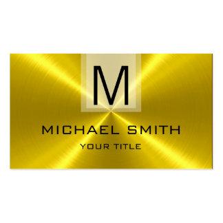 Monogramme professionnel en métal d'acier carte de visite standard