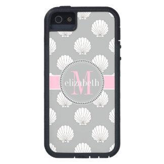 Monogramme rose de coquillages de blocs supérieurs coques iPhone 5 Case-Mate