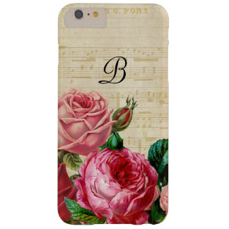 Monogramme rose floral vintage coque iPhone 6 plus barely there