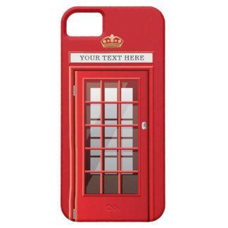 Monogramme rouge britannique vintage de cabine étui iPhone 5