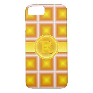 Monogramme rouge de Starlight 3D d'or de rad Coque iPhone 7
