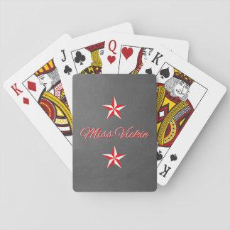 Monogramme rouge et blanc sur les cartes de jeu de jeu de cartes