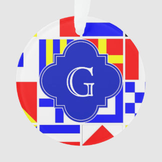Monogramme royal de Quatrefoil de drapeaux de