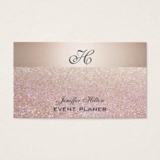 Monogramme scintillant de luxe chic élégant cartes de visite