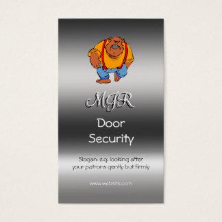 Monogramme, sécurité de porte de boîte de nuit, cartes de visite