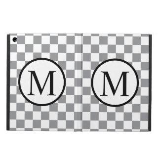 Monogramme simple avec le damier gris