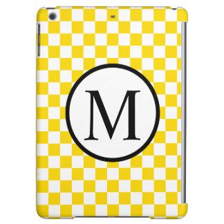 Monogramme simple avec le damier jaune