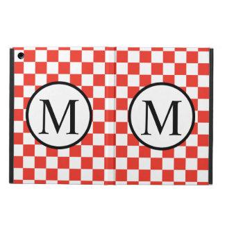 Monogramme simple avec le damier rouge