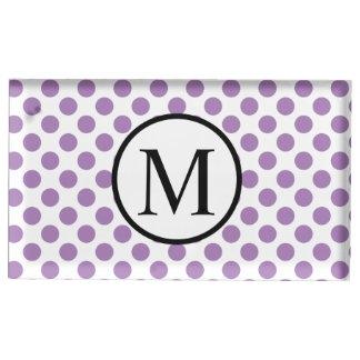 Monogramme simple avec le pois de lavande porte-cartes de  table