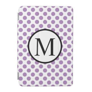 Monogramme simple avec le pois de lavande protection iPad mini