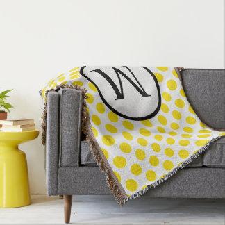 Monogramme simple avec le pois jaune couverture