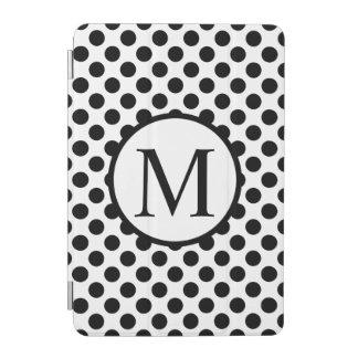 Monogramme simple avec le pois noir protection iPad mini