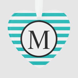 Monogramme simple avec les rayures horizontales