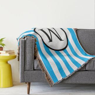 Monogramme simple avec les rayures horizontales couverture