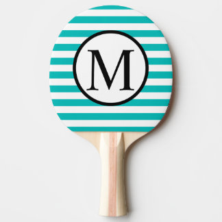 Monogramme simple avec les rayures horizontales raquette tennis de table