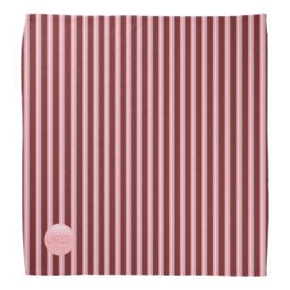 Monogramme sur le disque de rose rose et les bandana