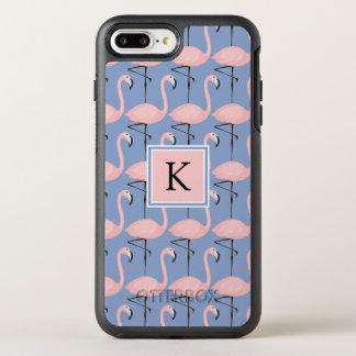 Monogramme tendre du motif | de flamant coque otterbox symmetry pour iPhone 7 plus
