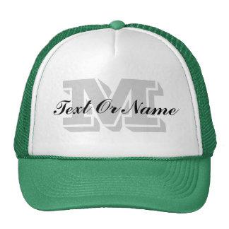 Monogramme, texte ou nom initial fait sur commande casquettes de camionneur