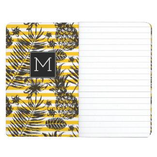 Monogramme tiré par la main des ananas | carnet de poche