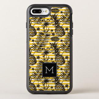 Monogramme tiré par la main des ananas | coque otterbox symmetry pour iPhone 7 plus