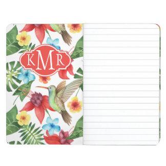 Monogramme tropical du colibri | carnet de poche