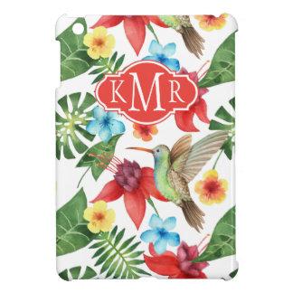 Monogramme tropical du colibri | étuis iPad mini