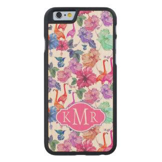 Monogramme tropical du motif | d'aquarelle coque en érable iPhone 6 case