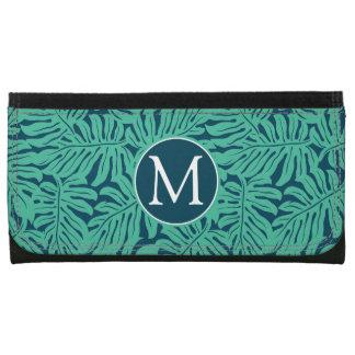 Monogramme tropical du motif | de feuille de