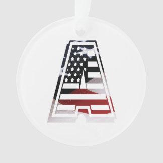 Monogramme une initiale américaine de drapeau des