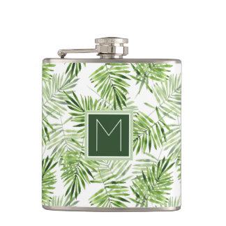Monogramme vert des palmettes | flasques